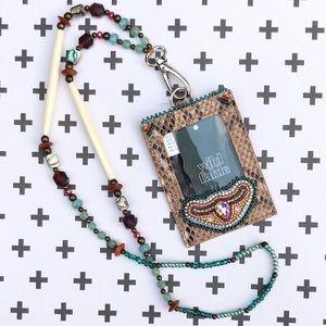 Native American Beaded ID Lanyard